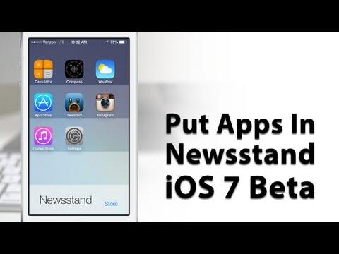 [iOS 7 Glitch] How To Put Apps In Newsstand With iOS 7 Beta 2