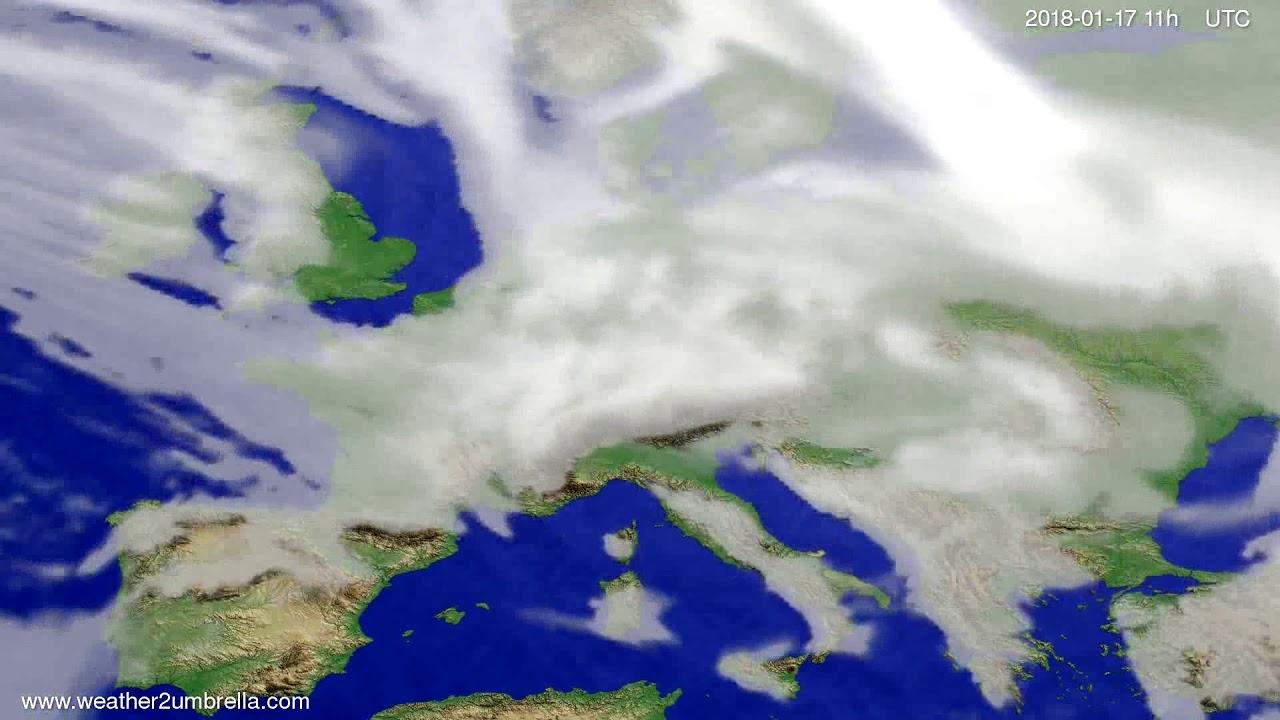 Cloud forecast Europe 2018-01-14