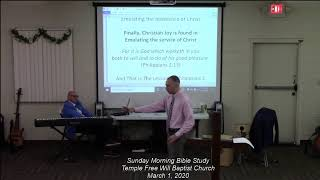 Sunday Morning Bible Study 3/1/20