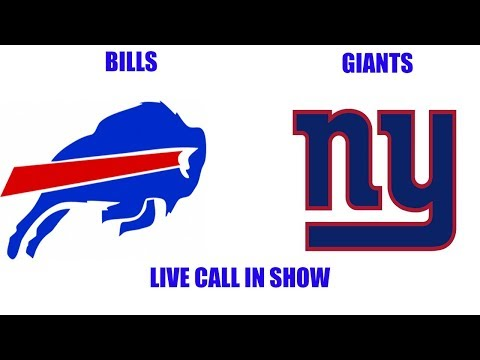 Buffalo Bills vs New York Giants Live Call in Show! Late Night talk show before the game!