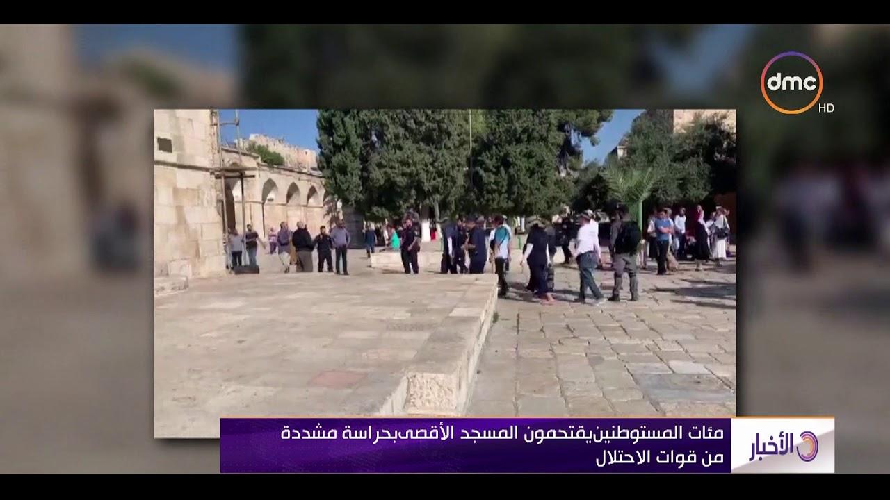 الأخبار - مئات المستوطنين يقتحمون المسجد الأقصي بحراسة مشددة من قوات الاحتلال