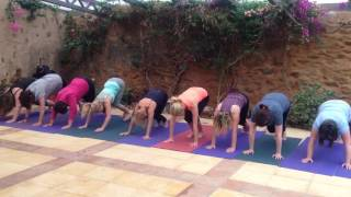 Yoga Retreat Cha Cha Slide Plank Challenge