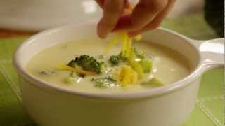 Get the recipe@ http://allrecipes.com/recipe/excellent-broccoli-cheese-soup/detail.aspx Watch how to make an excellent homemade broccoli cheese soup with ...