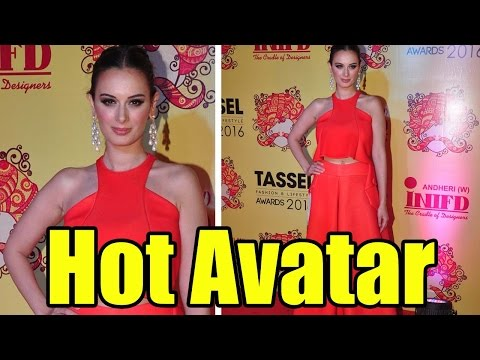 Evelyn Sharma In Red Hot Avatar At Tassel Fashion