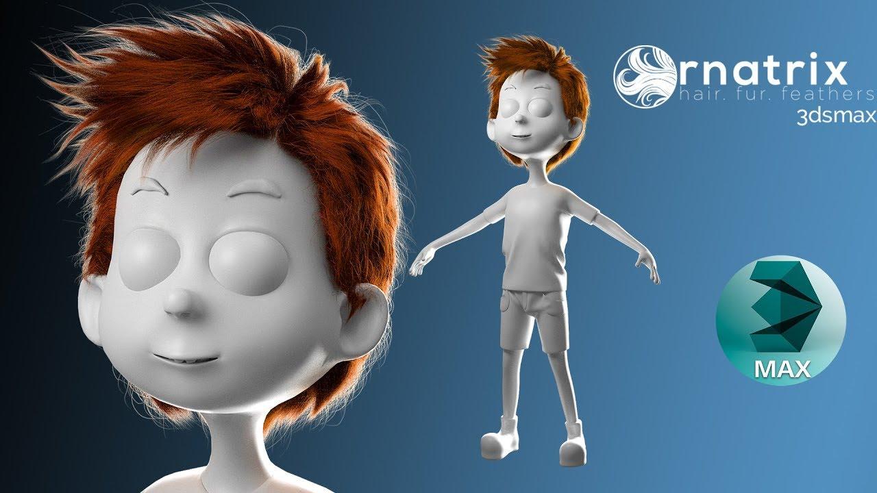 ornatrix hair cartoon 3ds max tutorials