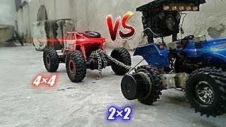 Toy model tractor tochan (Sonalika Tractor Vs Monster truck)video