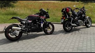 Old Footage from 2016. Going to motorbike event.Both bikes did great!