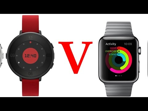 Pebble Time Round vs Apple Watch! (Display, Thickness, Specs, Band Size, Battery Life, Price)