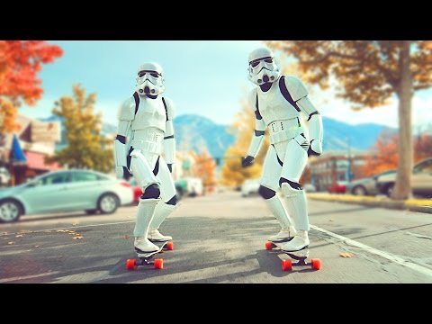 Watch Two Stormtroopers Tear Through Salt Lake City on Electric