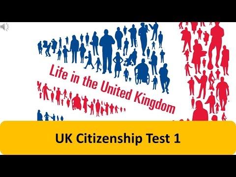 UK Citizenship Test 1