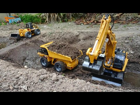 Rc Construction Models Building A Dam | Cars Trucks 4 Fun