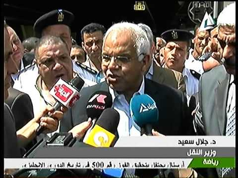 وزير النقل يتفقد تطوير محطة قطارات الجيزة واعمال صيانة الطريق الدائرى