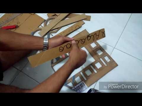Como fazer um mini paredão de papelão , passo a passo  ,(parte 1de4)