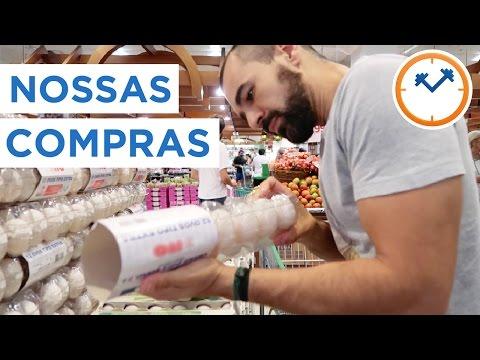 NOSSA LISTA DE COMPRAS NO MERCADO E FESTA NO YOUTUBE SPACE | Saúde na Rotina