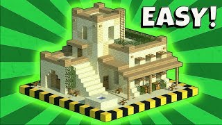 MINECRAFT: Tutorial On How To Make A DESERT House