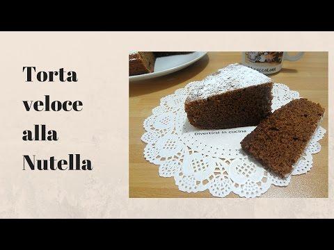 video ricetta: torta veloce alla nutella.