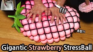 Video DIY Gigantic Strawberry Stress Ball!!! How to Make Slime CHU MP3, 3GP, MP4, WEBM, AVI, FLV Agustus 2018