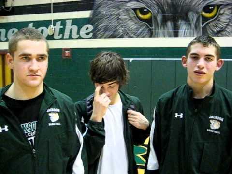 Interview with Jackson High School basketball players Austin O'Keefe, Brett Kingma and Jason Todd