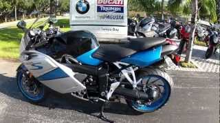 3. 2007 BMW K1200S in Silver and Blue is at Euro Cycles of Tampa Bay