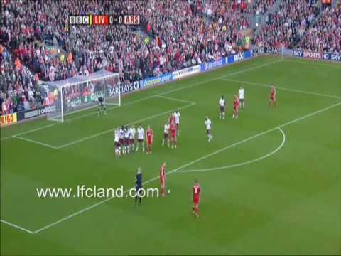 Steven Gerrard Free Kick Vs Arsenal 2007-2008