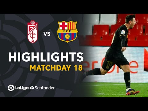 Highlights Granada CF vs FC Barcelona (0-4)