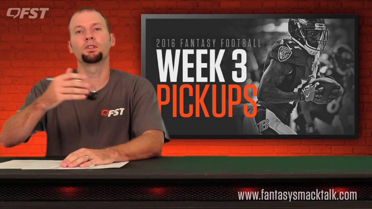 Fantasy Football: Week 3 Waiver Wire thumbnail