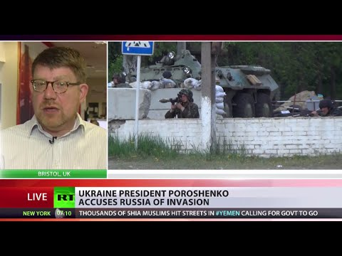 crisis - The President of Ukraine has accused Russia of deploying troops in East Ukraine. That's as anti-government forces launch a counter-offensive and advance on key areas in the south-east. RT is...