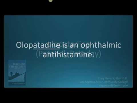How to pronounce olopatadine (Pataday) (Memorizing Pharmacology Flashcard)