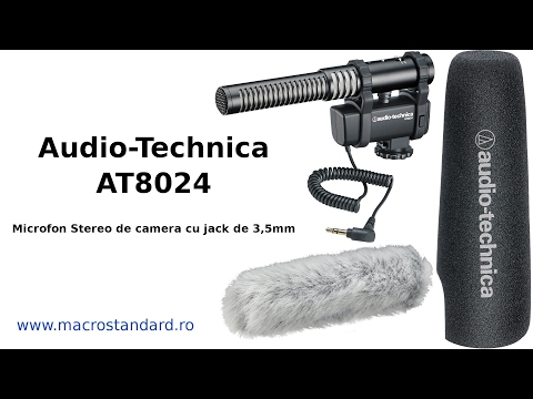 Microfon stereo de camera cu jack de 3,5mm Audio-Technica AT8024