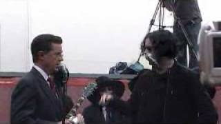 Jack White and Stephen Colbert & Black Belles Live NYC Third Man Records Rolling Store Charlene FULL