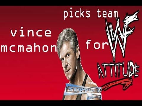 Vince Mcmahon picks team WWF.