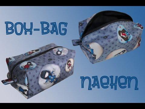 Box-Bag nähen – Reißverschlusstasche für Kosmetika o. ä. Krimskrams – DIY Tutorial / Nähanleitung