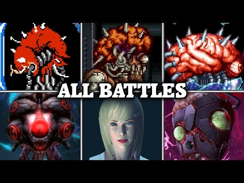 Evolution of Brain Battles in Metroid games (1986 - 2017)