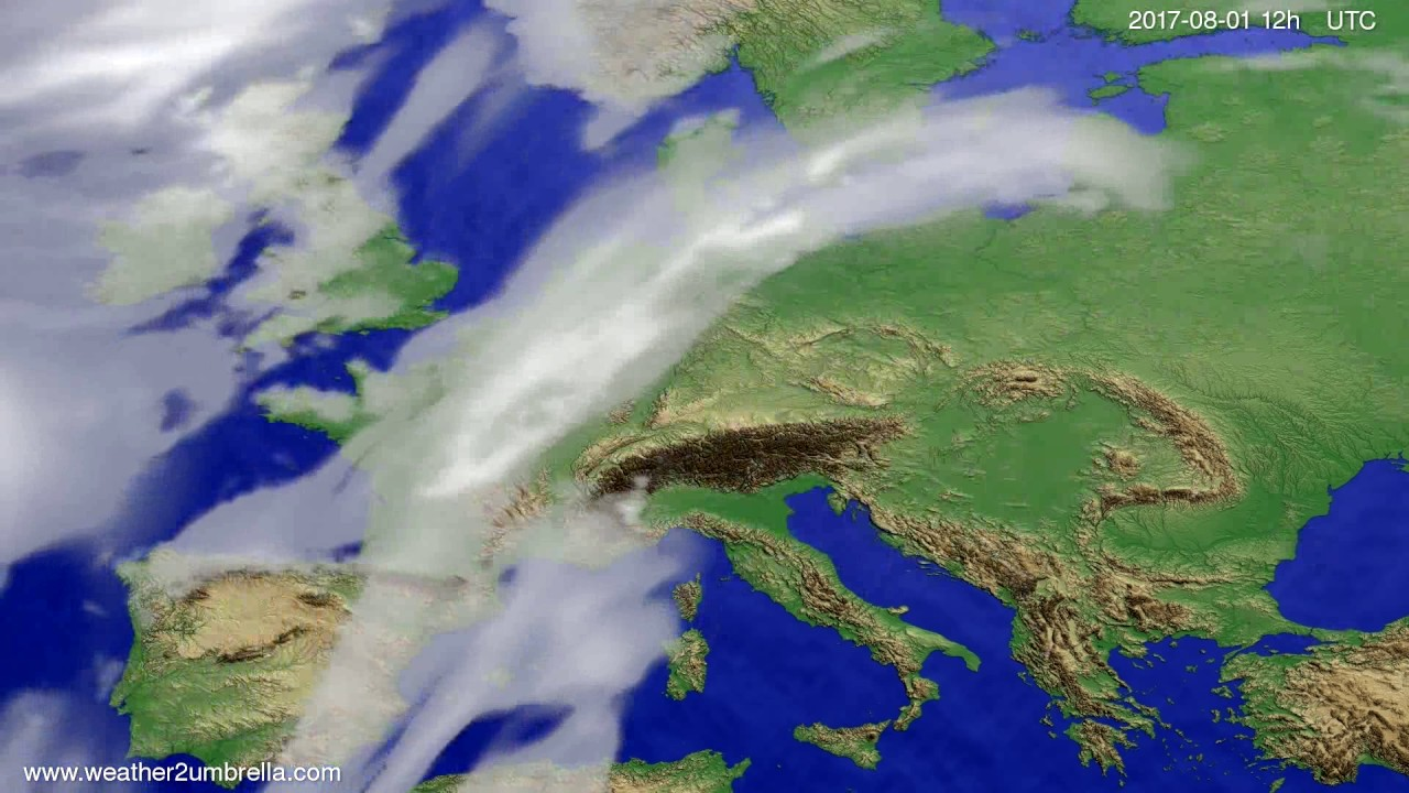Cloud forecast Europe 2017-07-30
