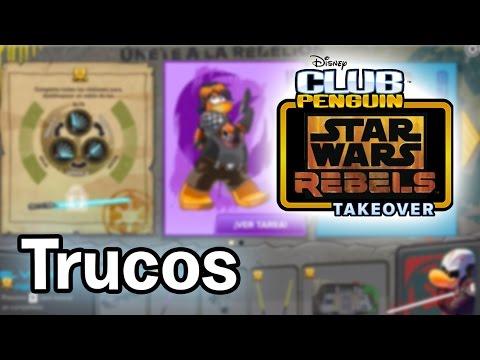 ¡Trucos de la Fiesta de Star Wars en Club Penguin! - 2015
