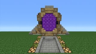 Minecraft Tutorial: How To Make A Custom Nether Portal (Villager Nether Portal)