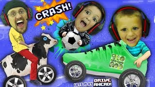 Video FGTEEV BOYS CRASH, SMASH & SOCCER DASH!  Dad vs. Sons Drive Ahead iOS App Game MP3, 3GP, MP4, WEBM, AVI, FLV Oktober 2018