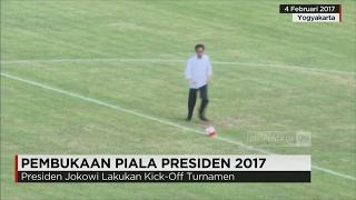 Video Tendang Bola, Jokowi Lakukan Kick-Off Piala Presiden 2017 MP3, 3GP, MP4, WEBM, AVI, FLV April 2018