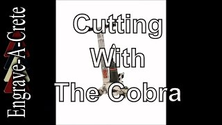 How To Cut Decorative Lines Using the Cobra from Engrave-A-Crete