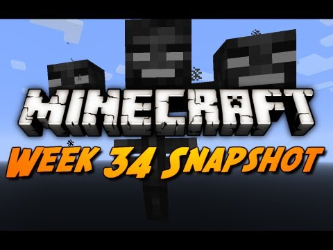 Minecraft Snapshots - 12w34a - Wither Boss, Item Frames, Dye Changes & More!