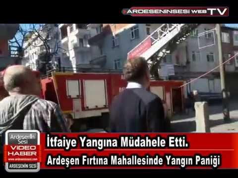 Ardeşen'de Yangın Paniği! Fırtına Mahallesinde Yangın Ucuz Atlatıldı