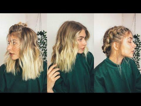 EASY + CUTE HAIRSTYLES FOR SHORT HAIR