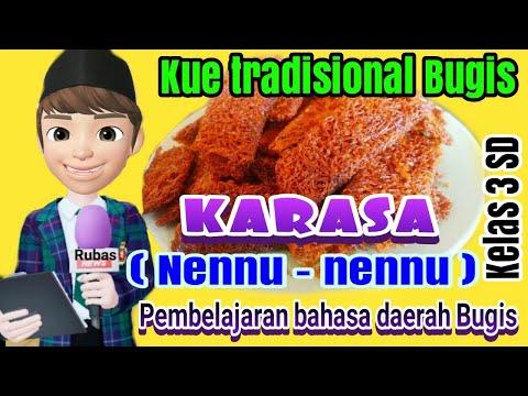 Karasa | Nennu - nennu | Kue tradisional Bugis | Bahasa daerah Bugis