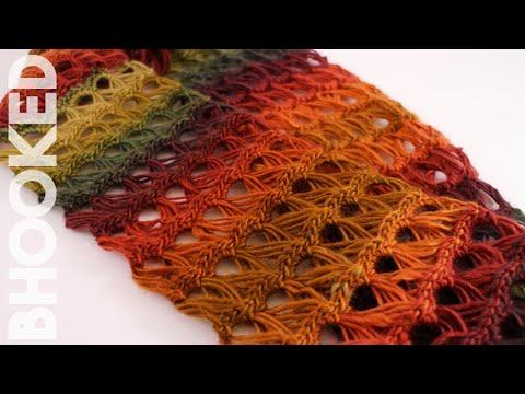 uncinetto - sciarpa infinity con merletto broomstick