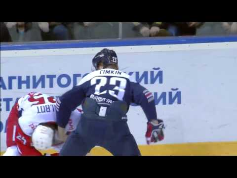 KHL Fight: Timkin VS Talbot (видео)