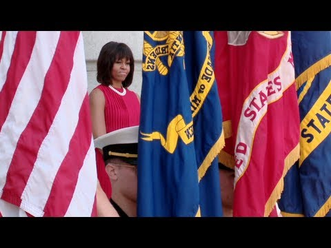 First Lady Michelle Obama at the Naval Academy