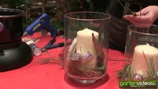#929 Weihnachtsdekoration - Weihnachtliche Tischdekoration mit Dekoglas