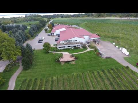 Old Mission Peninsula winery flyover by Aero Technology Systems