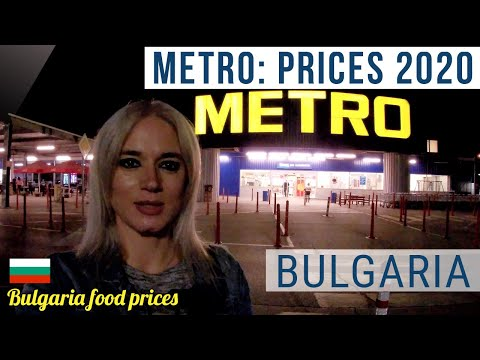 Bulgaria food prices. Metro: assortment and prices 2020