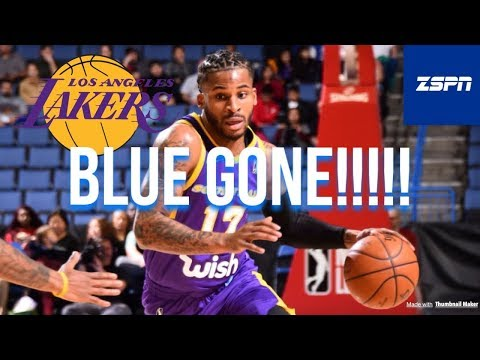 Lakers Waive Vander Blue From Two-Way Contract